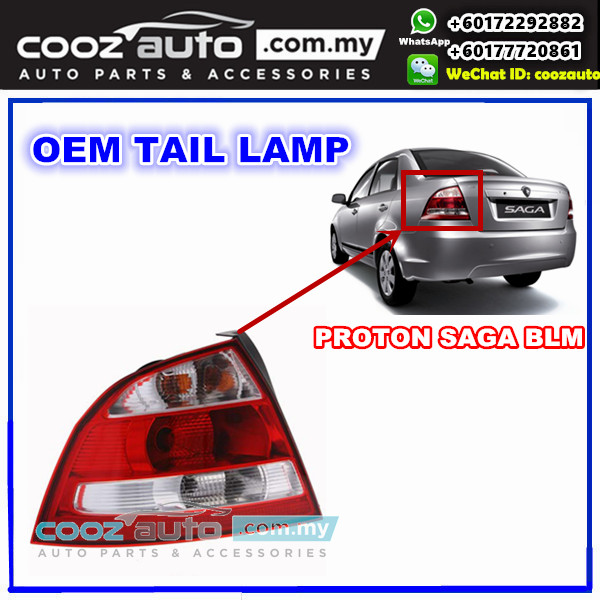 Proton Saga BLM Rear Left  & Right Side TailLight TailLamp Tail Lamp