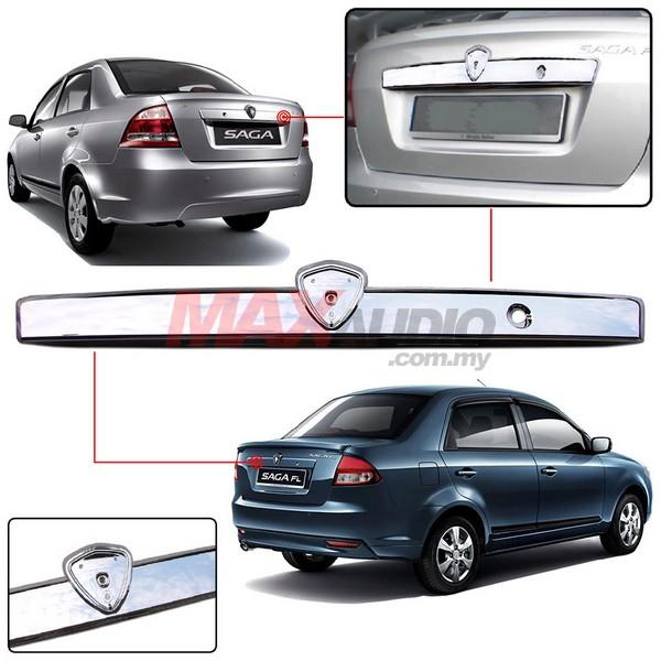 PROTON SAGA BLM SE FL FLX SV Rear Boot Bonnet Chrome Garnish Cover