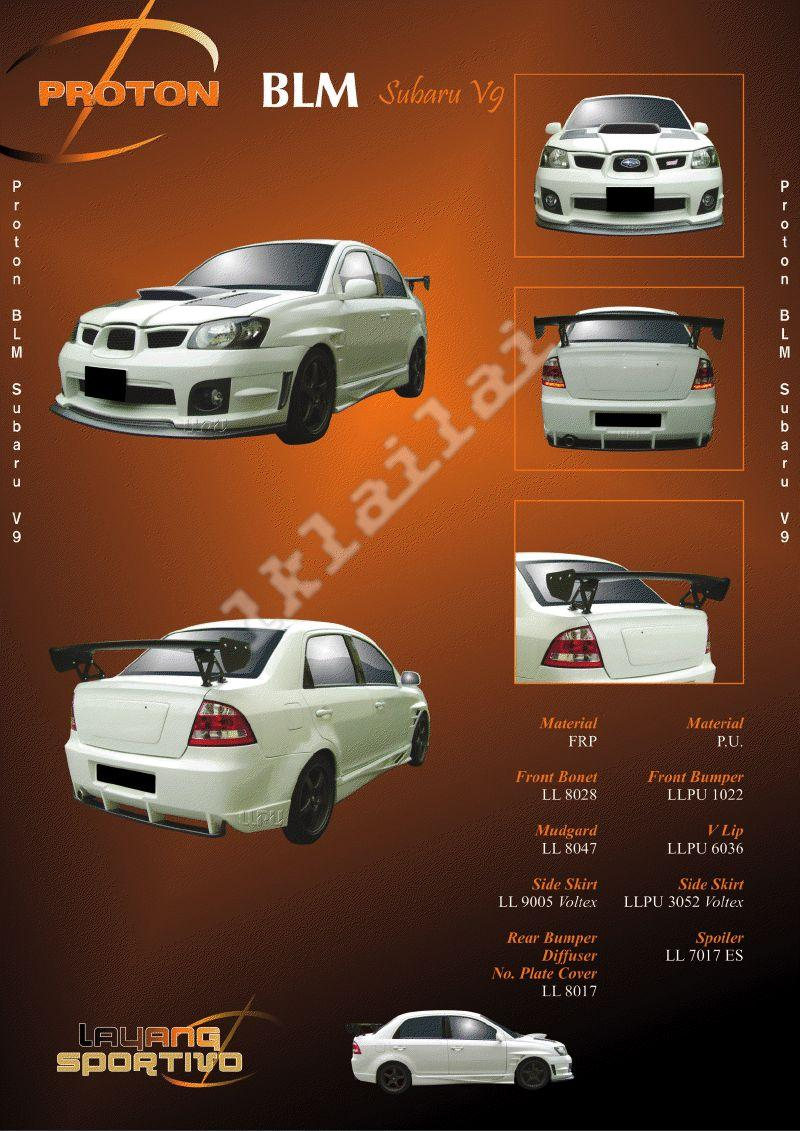Proton Saga BLM Subaru V9 - Body Kits