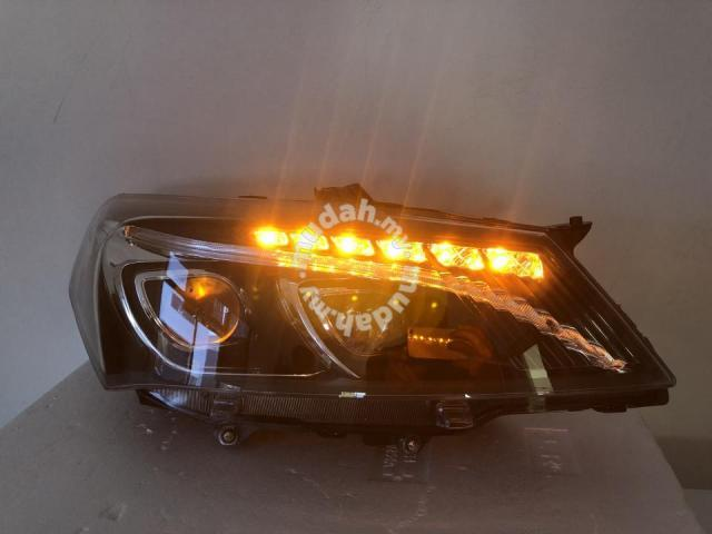 Proton Saga FL FLX Projector Head Lamp Black V2