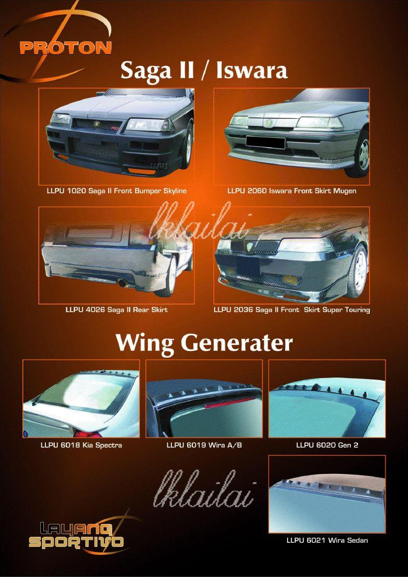Proton Saga II / Iswara Body Kits - Wing Generater Kia Spectra/Gen2/Wi