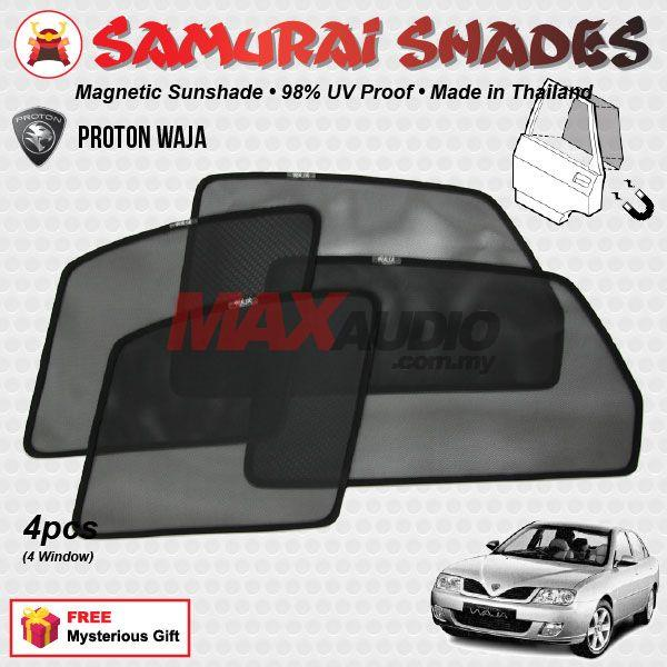 PROTON WAJA (4pcs) SAMURAI SHADES Magnetic Sun Shades on