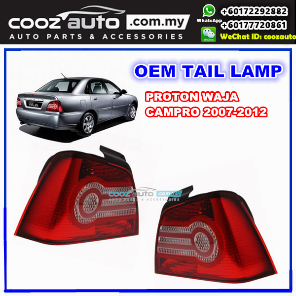 Proton Waja Campro 2007-2012 Rear Left Passenger Side TailLamp Tail Lamp  Light
