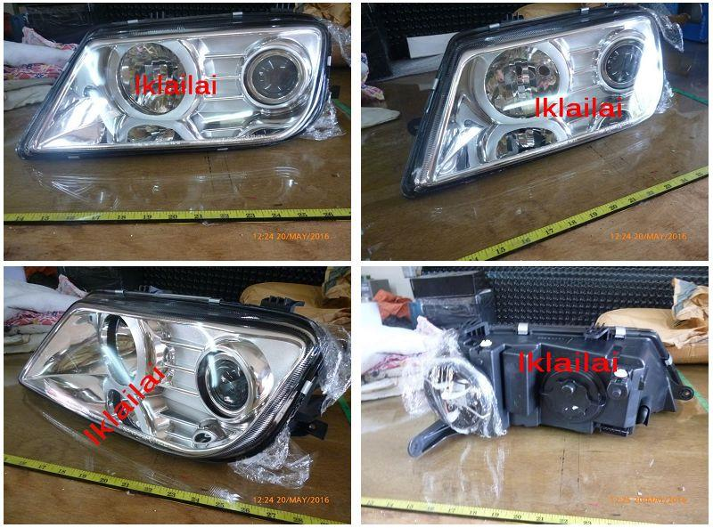 Proton Waja Campro Head Lamp [Grey / Chrome Housing] 1-Side