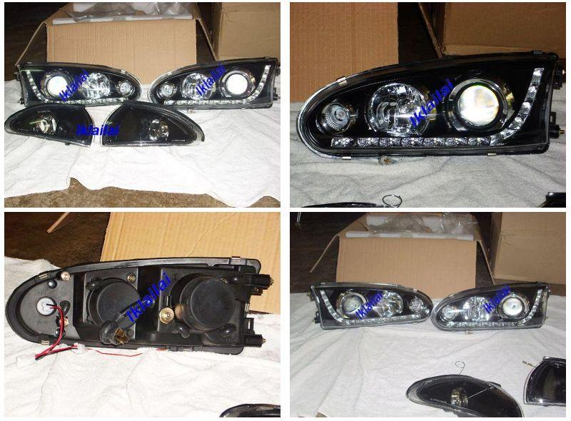 Proton Wira 93-04 Head Lamp Crystal Glass Lens W/ LED + Corner Lamp