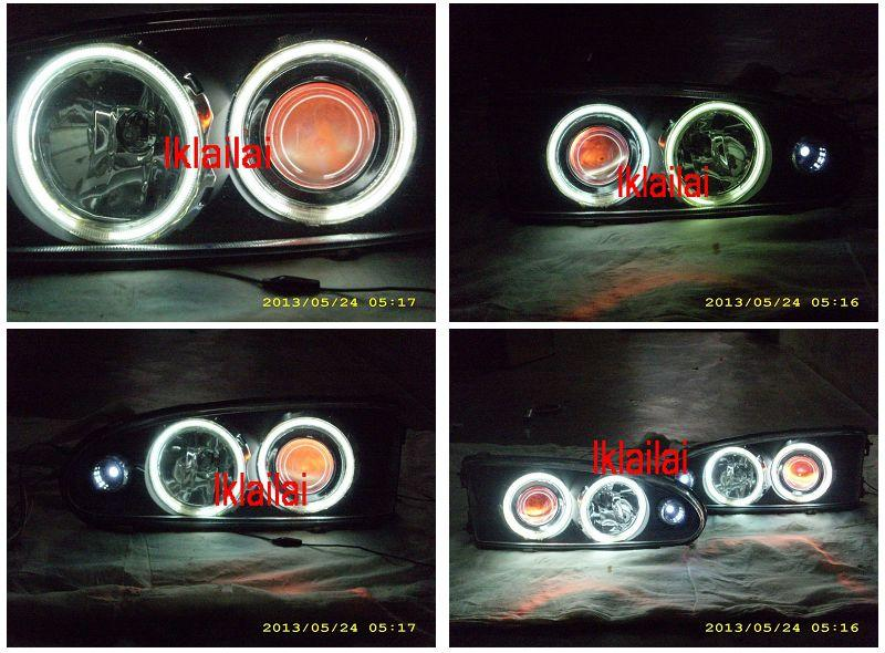 Proton Wira 93-04 Projector Head Lamp [CCFL+Angle Eyes] Glass Lens