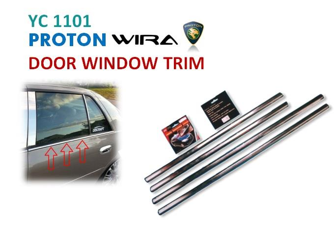 Proton Wira Door Window Trim - 4pcs (YC1101)