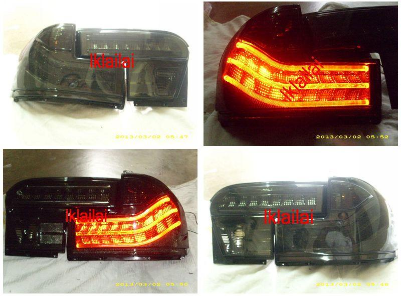 Proton Wira LED Light Bar Tail Lamp Smoke Lens [4pcs/set]