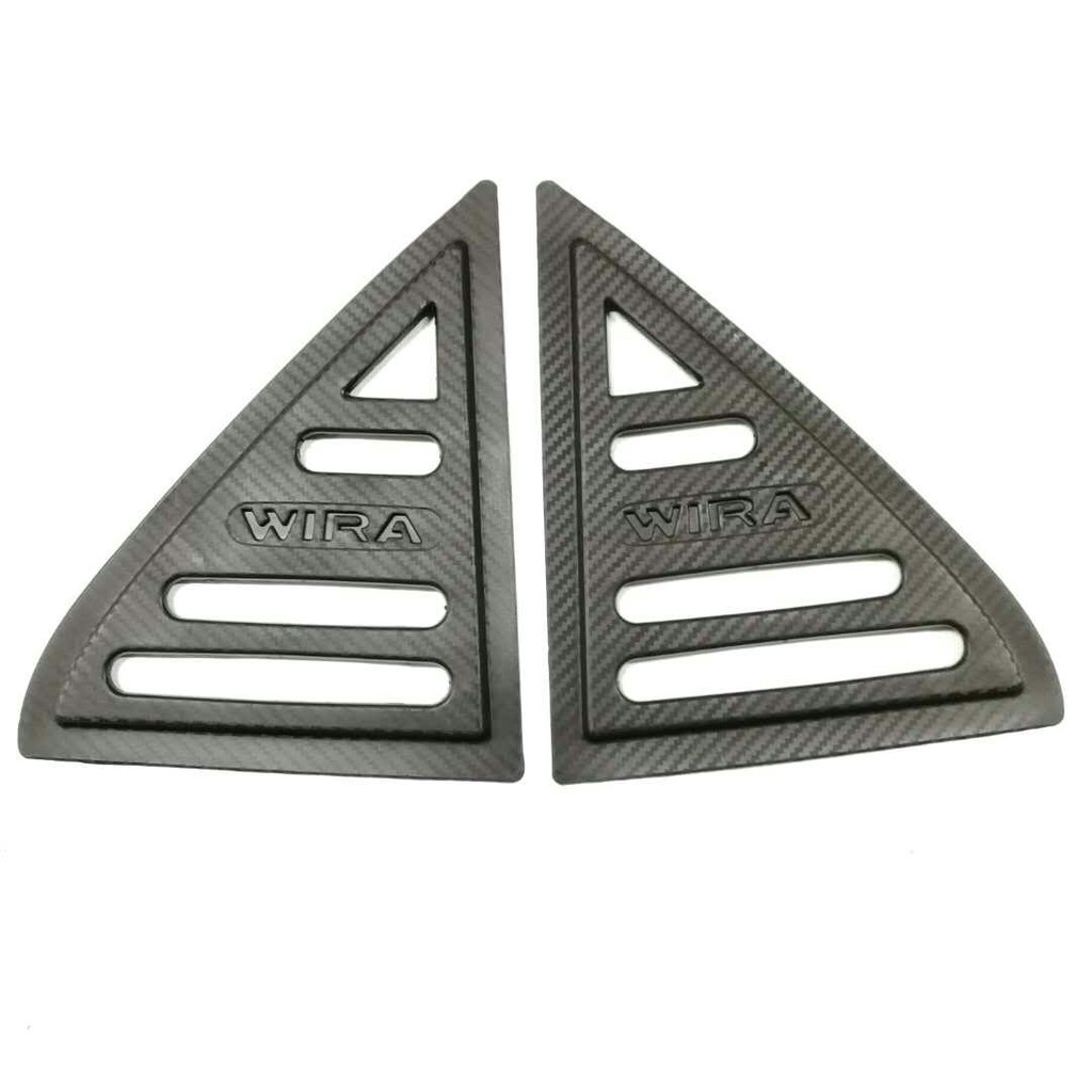 Proton Wira Rear Side 3D Carbon Window Triangle Mirror Cover Protector