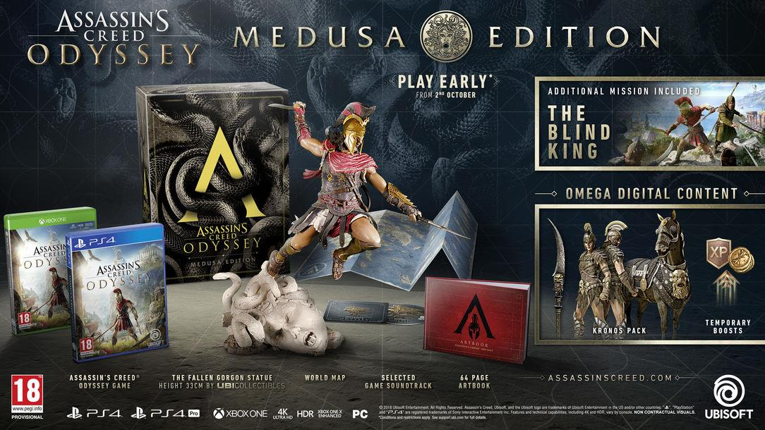 PS4 ASSASSIN'S CREED® ODYSSEY (R3) - MEDUSA EDITION