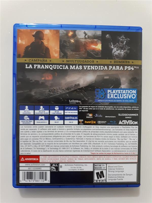 PS4 Call of Duty World War II (Region: All) ~ LIMITED TIME OFFER