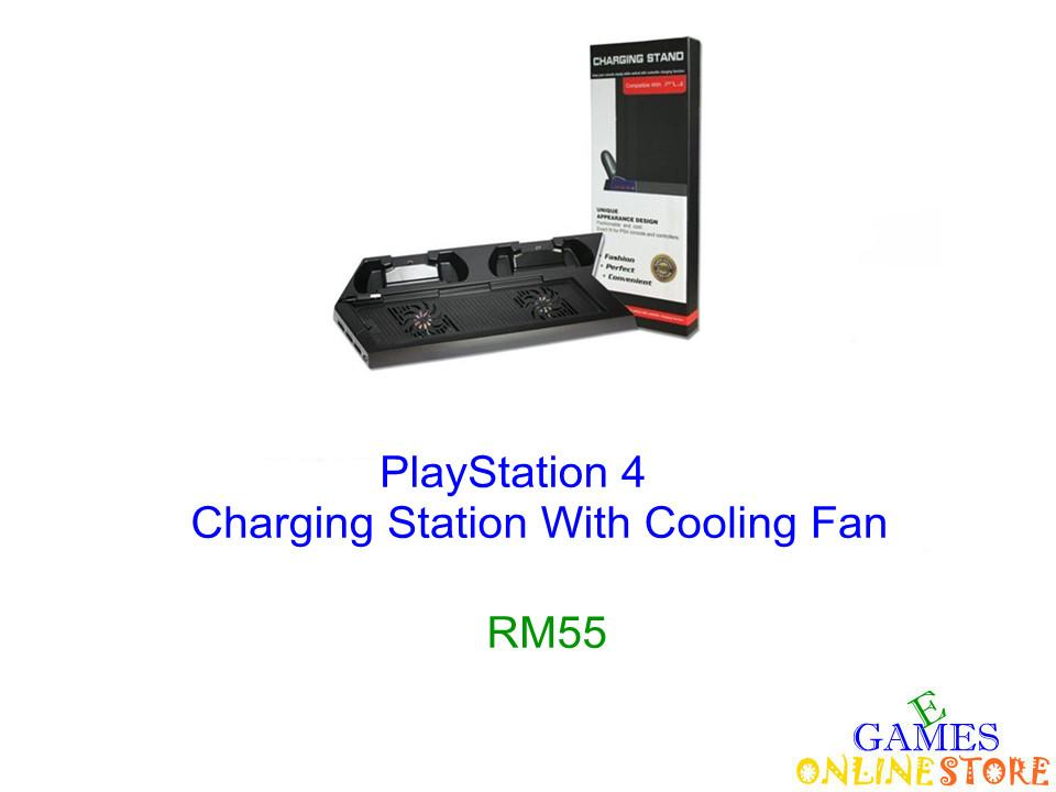 PS4 Charging Station W-Cooling Fan ★Brand New & Sealed★
