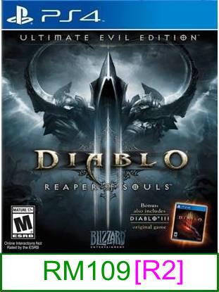 PS4 Diablo III Ultimate Evil Edition [R2] ★Brand New & Sealed	..