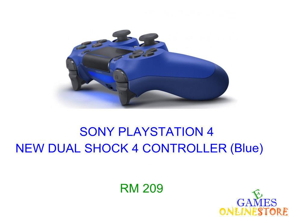PS4 New Dual Shock 4 Controller (Blue) ★Brand New & Sealed★..