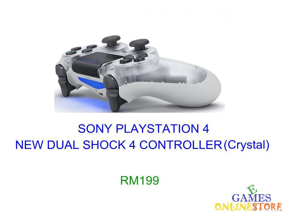 PS4 New Dual Shock 4 Controller (Crystal White) ★Brand New & Sealeda