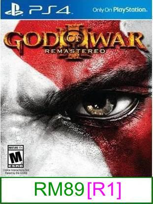 PS4 God of War III Remastered [R1] ★Brand New & Sealed★