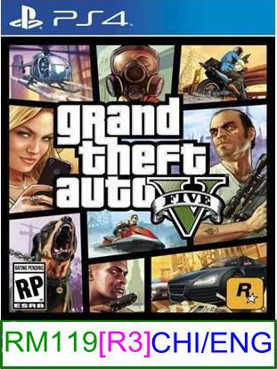 PS4 Grand Theft Auto V [R3] ★Brand New & Sealed★