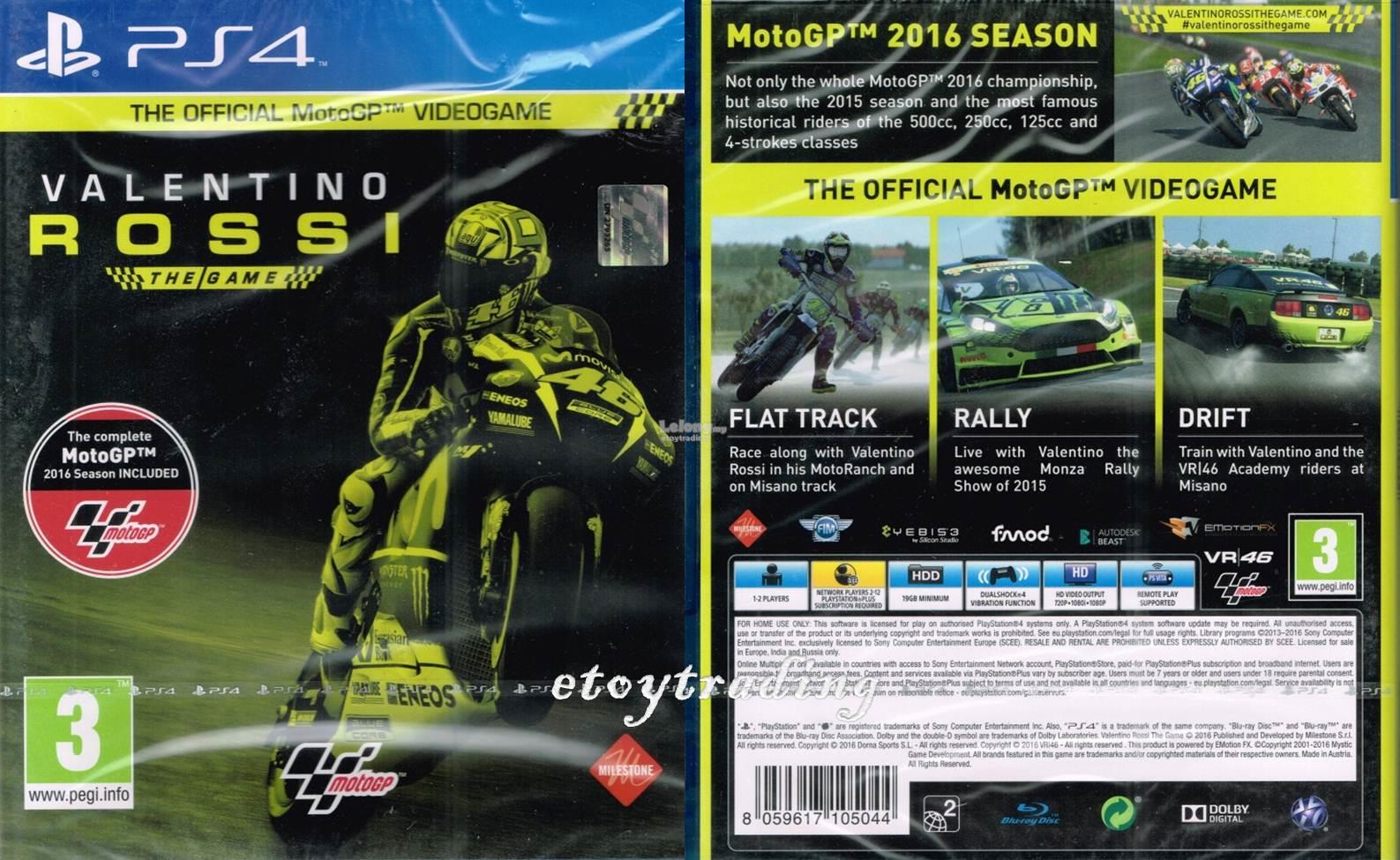 PS4 MOTO GP VALENTINO ROSSI THE GAME R2 RM170 WHATSAPP/SMS+60102209266