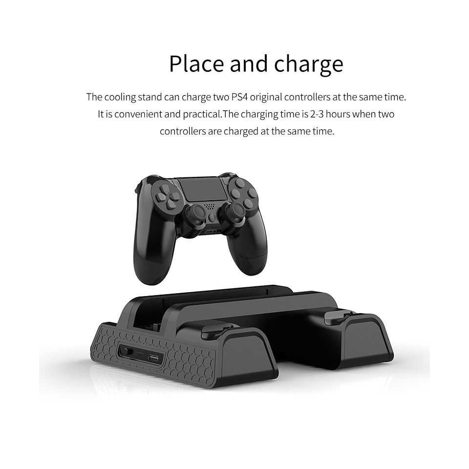 PS4 Multifunctional Cooling Fan Charging Stand [PS4 Slim / PS4 Pro / R
