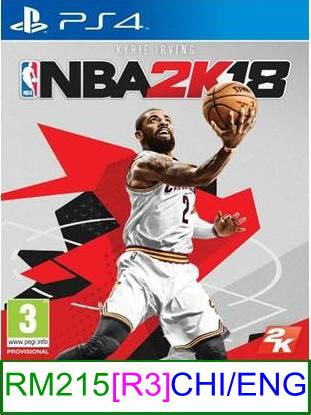 PS4 NBA 2K18 (CHI/ENG) [R3] ★Brand New & Sealed★