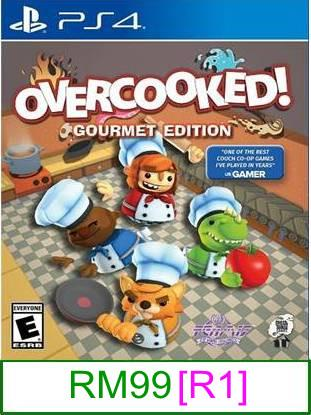 PS4 Overcooked [R1] ★Brand New & Sealed★