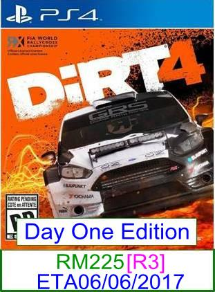PS4 PREORDER Dirt 4 [R3] ★Brand New & Sealed★