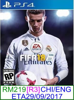 PS4 PREORDER FIFA 18 (CHI/ENG) ★Brand New & Sealed★
