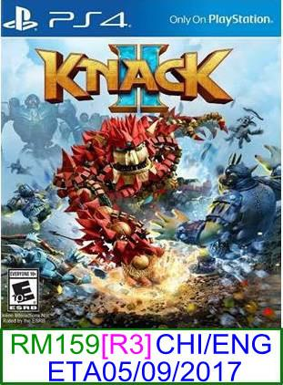 PS4 PREORDER Knack 2 (CHI/ENG) [R3] ★Brand New & Sealed★