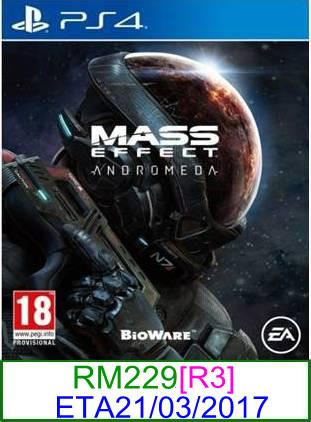 PS4 PREORDER Mass Effect Andromeda [R3] ★Brand New & Sealed&#973..