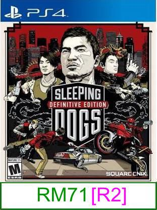 PS4 Sleeping Dogs Definitive Edition [R2] ★Brand New & Sealed	..