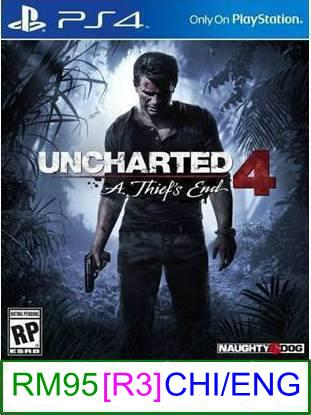 PS4 Uncharted 4 A Thief's End (CHI/ENG) [R3] ★Brand New & Sealed..