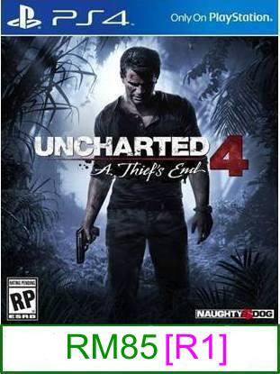 PS4 Uncharted 4 A Thief's End [R1] ★Brand New & Sealed★