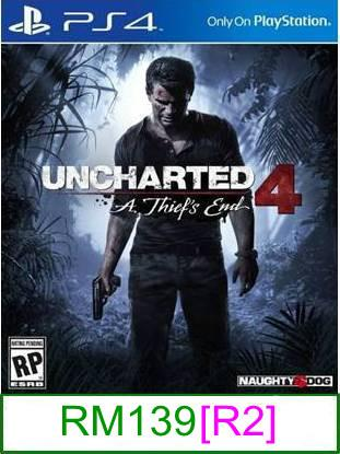 PS4 Uncharted 4 A Thief's End [R2] ★Brand New & Sealed★
