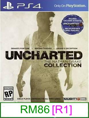PS4 Uncharted The Nathan Drake Collection [R1] ★Brand New & Seal..