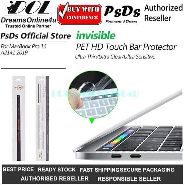 PsDs HD Ultra Thin PET Touch Bar Protector MacBook Pro 16 A2141