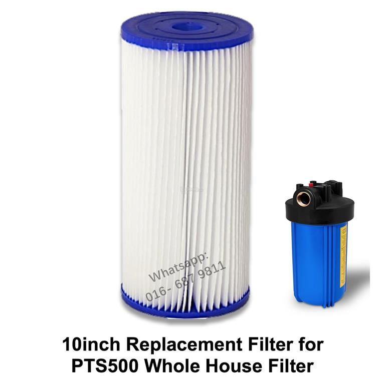 PTS500 Replacement 10inch Pleated Whole House Outdoor Water Cartridge