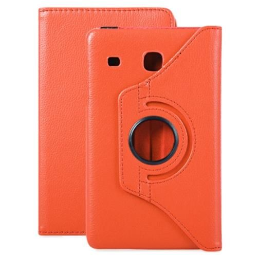 newest 74d4d 9a60d PU LEATHER 360 DEGREE ROTATING SMART FOLIO CASE FOR SAMSUNG GALAXY TAB E  8.0 T