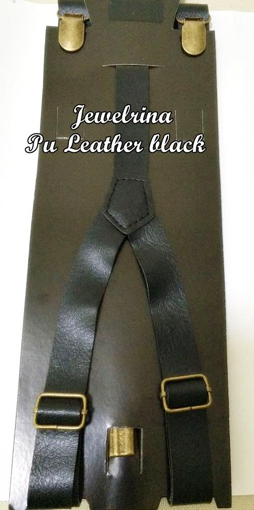 PU Leather Black  Suspenders (Free Shipping)