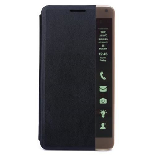 quality design 30844 512f0 PU LEATHER LED SMART TOUCH PHONE CASE FLIP STAND AUTO SLEEP COVER FOR  HUAWEI M