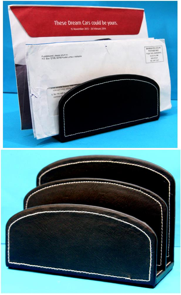 PU Letter Holder Leather Letter Stand