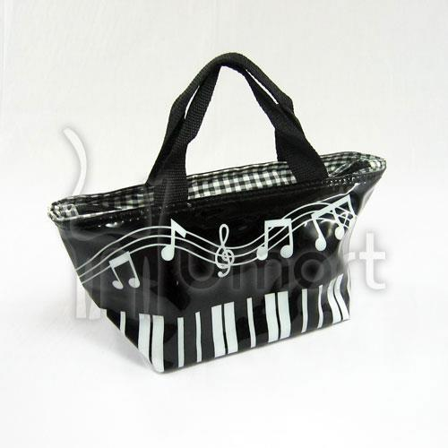 PU Music Piano Keyboard Black and White Dumpling Bag