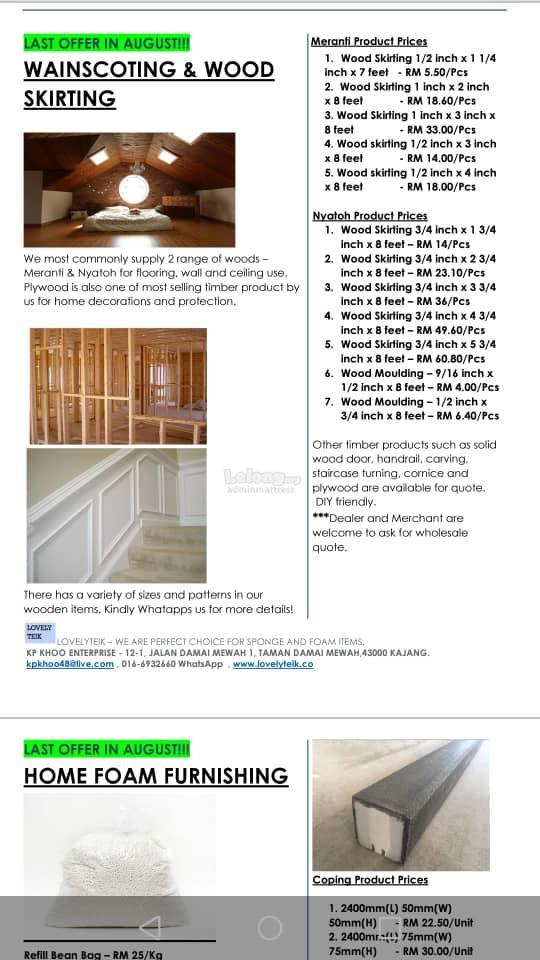 PU, PE, EVA, EPS,wooden Foam & WOOL Sheet ONE STOP