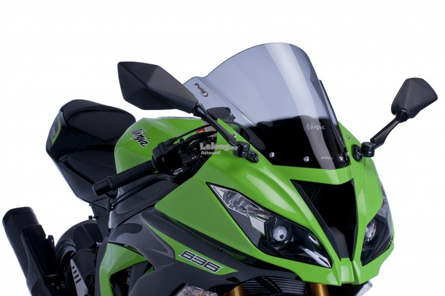 PUIG Racing Screen for Kawasaki ZX-6R 636 (SMOKE)