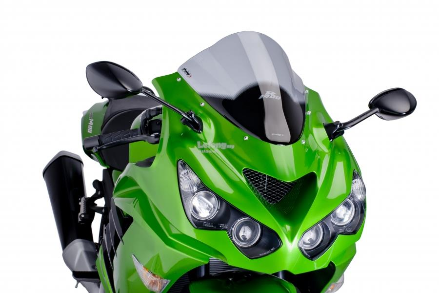 PUIG Racing Screen for Kawasaki ZX14 (SMOKE)