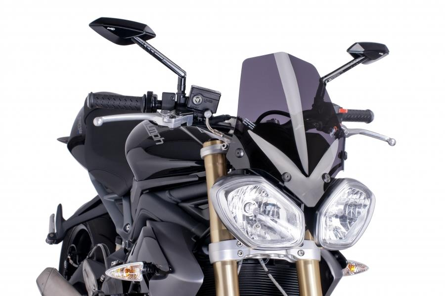 PUIG Windshield for Triumph SPEED Street TRIPLE (DARK SMOKE)