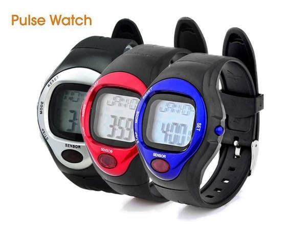 Pulse Sports Watch with Heart Rate Monitor and Calorie Report