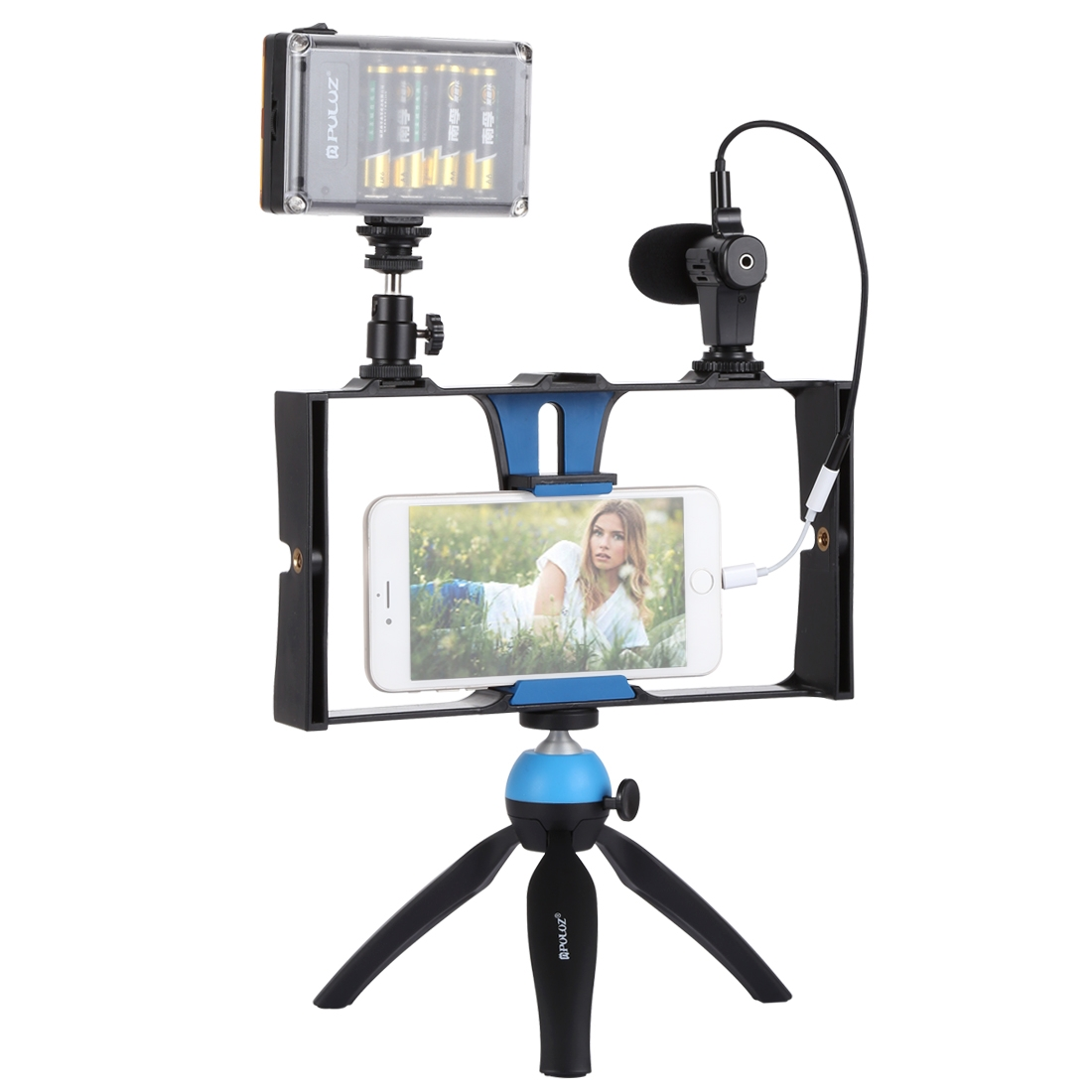 PULUZ 4 in 1 Live Broadcast LED Selfie Smartphone Video Rig Kits