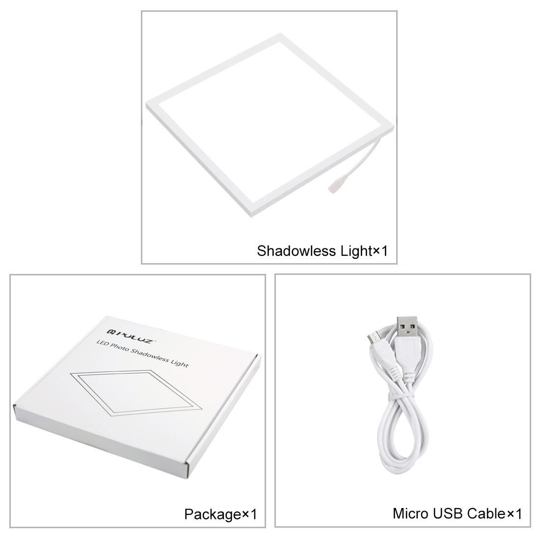 PULUZ Mini LED Photography Shadowless Light Lamp Panel Pad