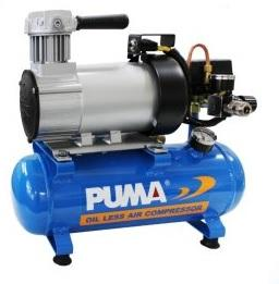 Puma 100W (1/8HP) Portable Mini Oil Less Air Compressor Model MB0104