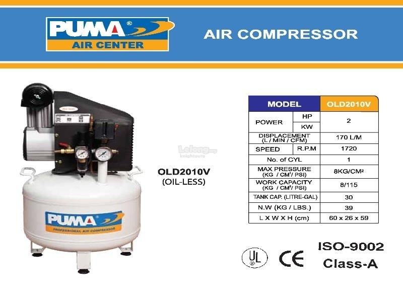 Puma 2hp30L OLD2010V Oil-less Air Compressor ID339483